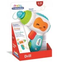 Clementoni Baby Happy Drill interaktív fúró hanggal és fénnyel műanyag