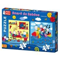 Bogyó és Babóca szivárványhal puzzle 12+20 db-os
