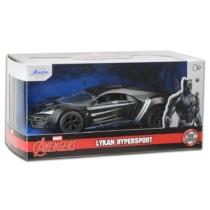 Bosszúállók Avengers Black Panther Lykan Hypersport fém autó 1:32