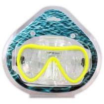 Búvárszemüveg kerekített citromsárga 16 cm