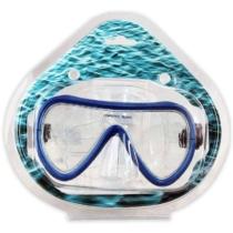 Búvárszemüveg kerekített kék 16 cm