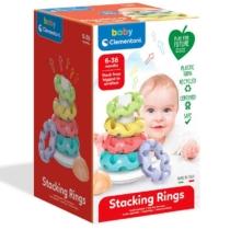 Clementoni Baby Stacking Rings gyűrűpiramis játékszett műanyag