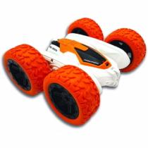 Crosslander RC kaszkadőr autó távirányítóval világítós fehér-narancssárga