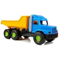 Dömper kék-sárga műanyag 75 cm
