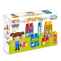 Építőkocka Maxi farm műanyag