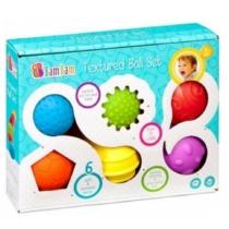 Érzékfejlesztő puha labdák 6 db-os készlet BamBam