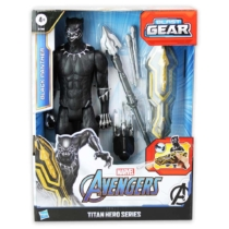 Fekete párduc játékfigura Bosszúállók Avengers Titan Hero Blast Gear kiegészítőkkel 30 cm