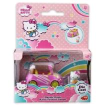 Hello Kitty Dazzle Dash Kitty Pretzel Coupe fém kisautó figurával
