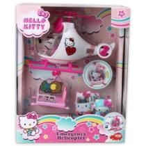 Hello Kitty helikopter figurával és kiegészítőkkel műanyag