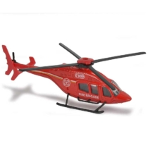 Majorette Bell 429 tűzoltó fém helikopter