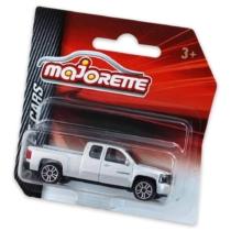Majorette Chevrolet Silverado fém kisautó ezüst 1:64