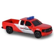 Majorette Chevrolet Silverado tűzoltóautó hanggal és fénnyel piros 1:64