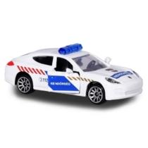 Majorette Porsche Panamera fém rendőrautó fehér 1:64