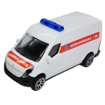 Majorette Renault Master fém magyar mentőautó fehér 1:64