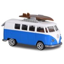 Majorette VW T1 243A-4 fém kisautó fehér-kék 1:64
