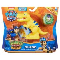 Mancs őrjárat Dino Rescue Chase és Tyrannosaurus Rex figura műanyag