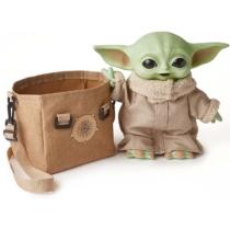 Mandalorian Grogu játékfigura hanggal táskával 30 cm