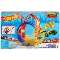 Mattel Hot Wheels Action Energy Track hurok tűzpálya kisautóval