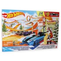 Mattel Hot Wheels Adventi kalendárium 8 db kisautóval és 16 db kiegészítővel