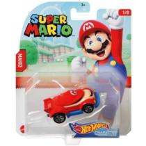 Mattel Hot Wheels Super Mario Mario fém kisautó 1/8