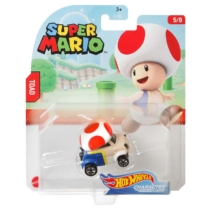 Mattel Hot Wheels Super Mario Toad fém kisautó 5/8