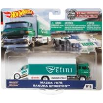 Mattel Hot Wheels Team Transport #16 fém kisautó szett Mazda 787B & Sakura Sprinter
