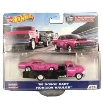 Mattel Hot Wheels Team Transport #25 fém kisautó szett 68 Dodge Dart & Horizon Hauler