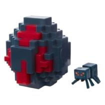 Minecraft műanyag Spawn Egg Idéző Tojás fekete-piros