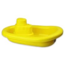 Műanyag hajó citromsárga 21 cm