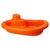 Műanyag hajó narancssárga 21 cm
