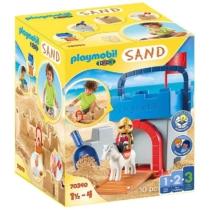 Playmobil 1.2.3 Sand Homokozó szett Homokvár 10 db-os - 70340
