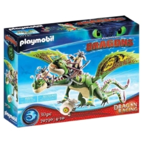 Playmobil Dragon Racing Kőfej és Fafej, Töffel és Böffel 30 db-os - 70730