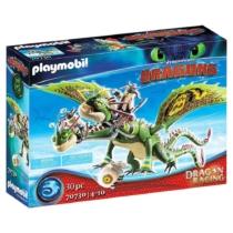 Playmobil Dragon Racing Így neveld a sárkányodat Kőfej és Fafej, Töffel és Böffel 30 db-os - 70730
