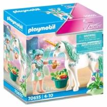 Playmobil Fairies zöld tündér unikornissal 31 db-os - 70655