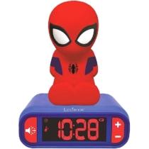 Pókember ébresztő óra éjszakai fénnyel és hangeffektekkel