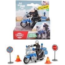 Police Bike Set rendőr motor kiegészítőkkel műanyag