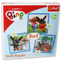 Puzzle Bing 3 az 1-ben 20, 36, 50 db-os Trefl