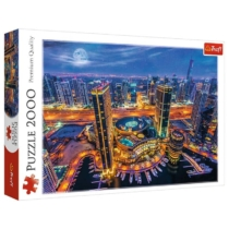 Puzzle Dubai fényei 2000 db-os Trefl