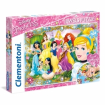 Puzzle ékköves matricával Disney hercegnők 104 db-os Clementoni
