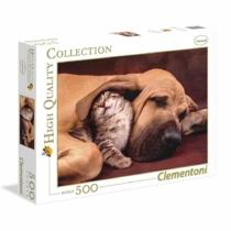 Puzzle Kutya és kiscica 500 db-os Clementoni