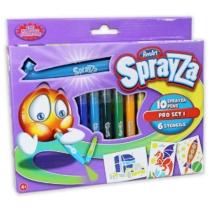 RenArt Sprayza fiús festékszóró szett sablonokkal, filctollakkal 17 db-os
