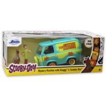 Scooby-Doo Mistery Machine fém busz Bozont és Scooby figurával 1:24