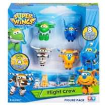 Super Wings 8 db-os figuraszett, Donnie, Classic Bello, Jerome, Classic Mira (kicsi) és mini figurák