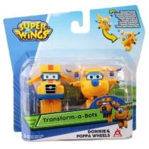 Super Wings Átalakuló játékrepülő 2 db-os készlet, Donnie, Poppa Wheels (kicsi)