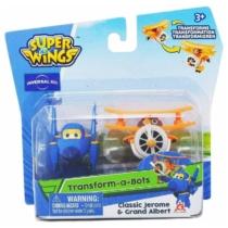 Super Wings Átalakuló játékrepülő 2 db-os készlet, Jerome, Grand Albert (kicsi)