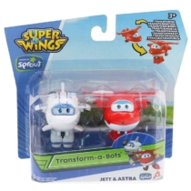 Super Wings Átalakuló játékrepülő 2 db-os készlet, Jett, Astra (kicsi)