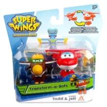 Super Wings Átalakuló játékrepülő 2 db-os készlet, Todd, Jett (kicsi)