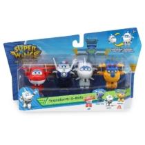 Super Wings Átalakuló játékrepülő 4 db-os készlet, Jett, Police Paul, Astra, Donnie