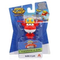 Super Wings Átalakuló játékrepülő, Build-It Jett (kicsi)