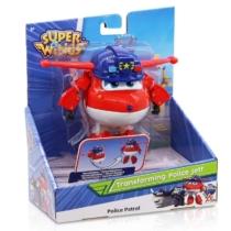 Super Wings Átalakuló játékrepülő Police Jett 14 cm